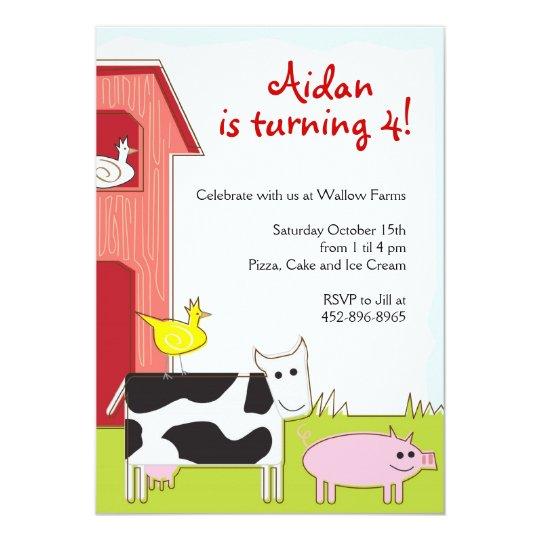 Petting Farm Party Invitation