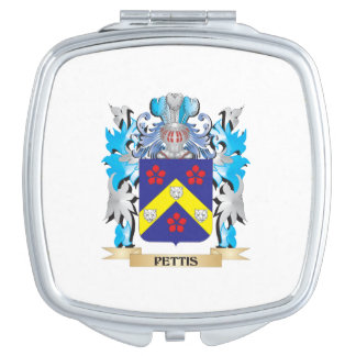Pettis Coat of Arms - Family Crest Makeup Mirrors