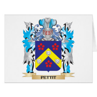 Pettit Coat of Arms - Family Crest Big Greeting Card