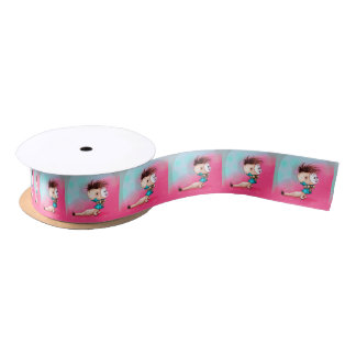 PETTY BELLE ALIEN MONSTER CARTOON SATIN RIBBON