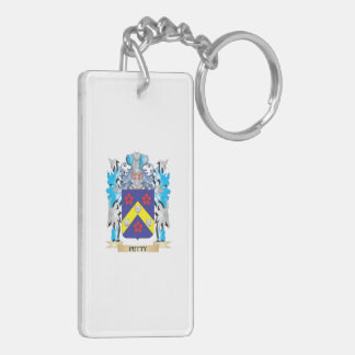 Petty Coat of Arms - Family Crest Double-Sided Rectangular Acrylic Key Ring