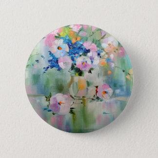 petunia 6 cm round badge