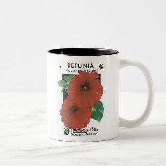 Petunia Fire Chief Dwarf Seed Packet, F. Lagomarsi Two-Tone Coffee Mug