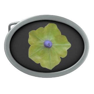 Petunia Green and Blue Belt Buckle