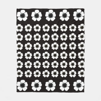 Petunia_Love(c)Classic-Black-White_Med Fleece Blanket