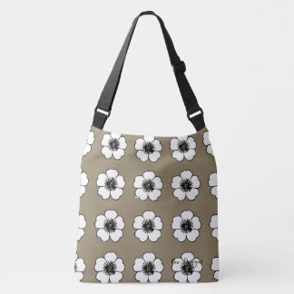Petunia_Love(c) Taupe-White Crossbody Bag