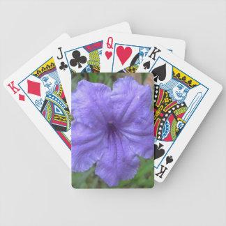 Petunia Mexican Purple Poker Cards