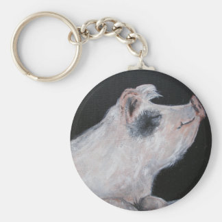"""Petunia Pig"" Keychain"