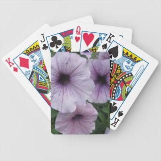 Petunia Purple White Poker Cards