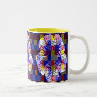 Petunia Squares Pop Art Mug