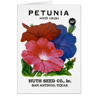 Petunia Vintage Seed Packet Greeting Card