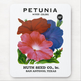 Petunia Vintage Seed Packet Mouse Pads