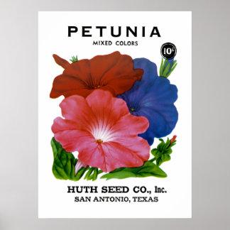 Petunia Vintage Seed Packet Poster