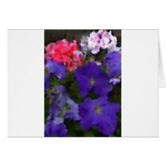 Petunias and Geraniums Card