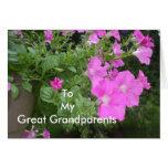 Petunias for Great Grandparents Greeting Card
