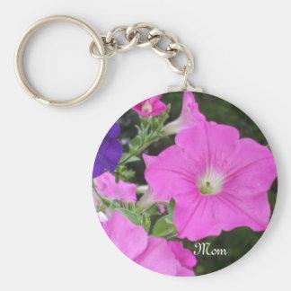 Petunias Key Ring