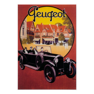 Peugeot Automobile Promotional Poster