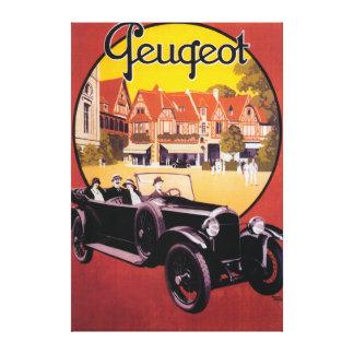 Peugeot Automobile Promotional Poster Canvas Print