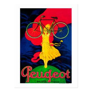 Peugeot Bicycle Vintage PosterEurope Post Card