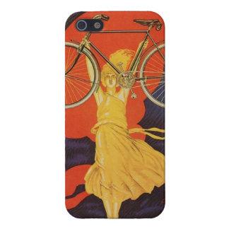 Peugeot Bicycles Bike Woman Paris Artistic Ad iPhone 5 Case