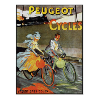 Peugeot Cycles - Vintage Bicycle Poster