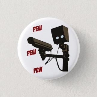 Pew Pew Pew Laser Radar Gun Robot 3 Cm Round Badge