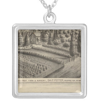 Pewaukee Fruit Farm & Nursery Silver Plated Necklace