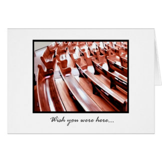 Pews (light) Note Card