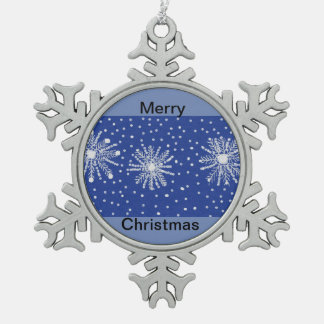 Pewtar Snowflake decoration