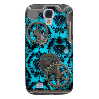 Pewter and Turquoise Steampunk iPhone Case