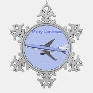 Pewter Christmas Ornaments - Airplane