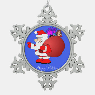Pewter Christmas Ornaments With Santa Claus