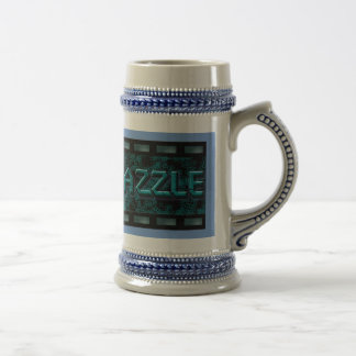 Pewter colour beer mug with logo for AmaraDazzle