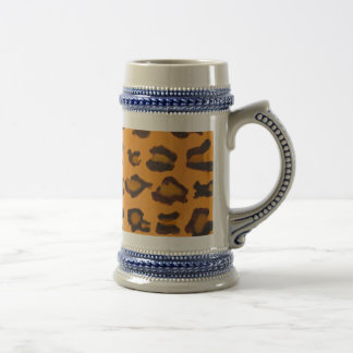 Pewter & Leopard Print Beer Stein - Creator RJFxx. Beer Steins
