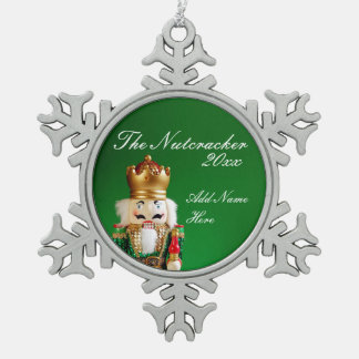 Pewter Nutcracker Ornament - Custom Name & Year