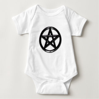Pewter Pentacle pagan baby shirt
