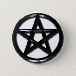 Pewter Pentacle pagan button