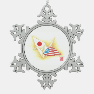 Pewter Snowflake Ornament ~ Japan-U.S. Friendship