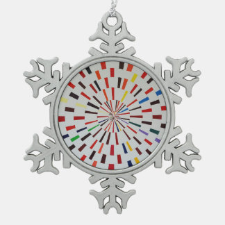 Pewter Snowflake Ornament - Modern abstract