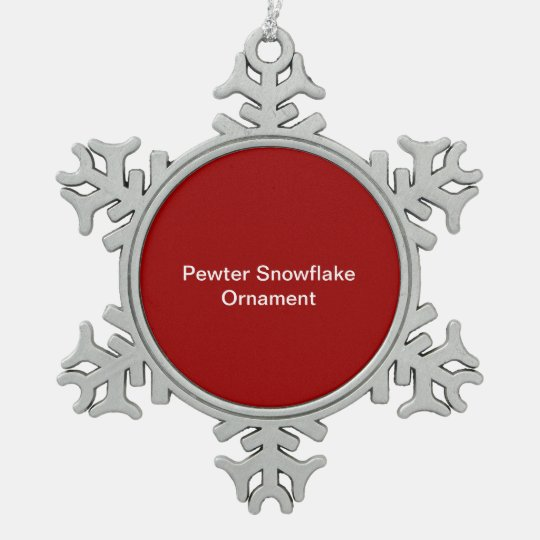 Pewter Snowflake Decoration