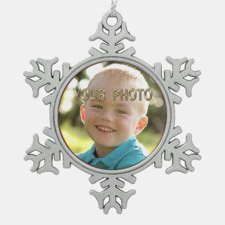 Pewter Snowflake PHOTO Chritmas Ornaments