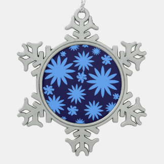 Pewter Tree Ornament Blue Custom