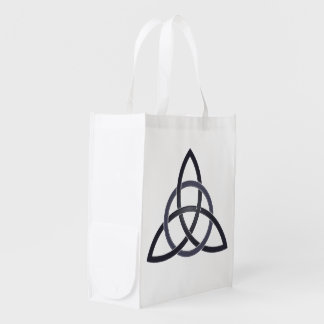 Pewter Trinity Knot Reusable Grocery Bag