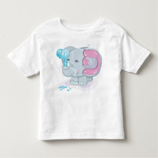 Pey Hebrew Aleph Bet (Alphabet) Elephant T-Shirt