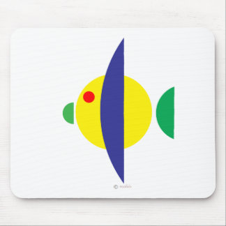 Pez amarillo mouse pad