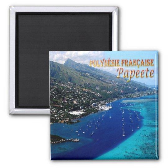 PF - French Polynesia - Papeete - Marina Taina Square Magnet