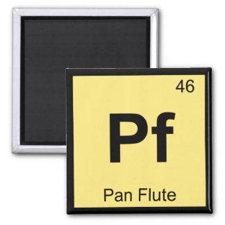 Pf - Pan Flute Music Chemistry Periodic Table Fridge Magnets