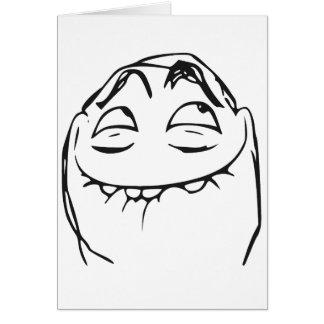 PFFTCH Laughing Rage Face Comic Meme Greeting Card