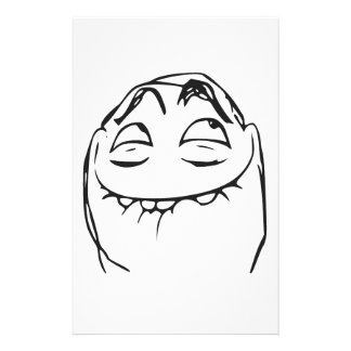 PFFTCH Laughing Rage Face Comic Meme Stationery Paper