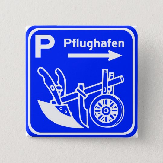 Pflughafen Schild Highway Sign 15 Cm Square Badge